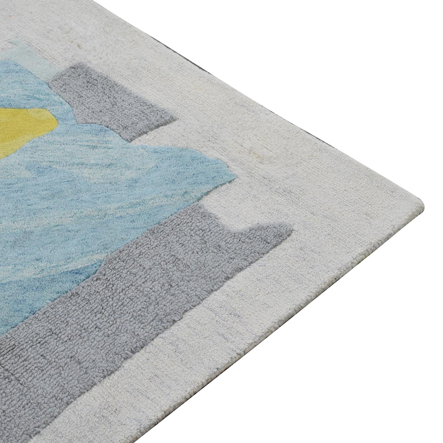 West Elm Painted Blocks Rug sale