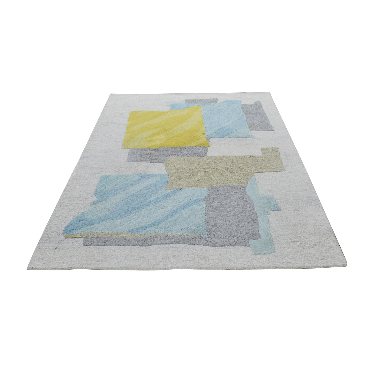 shop West Elm Painted Blocks Rug West Elm