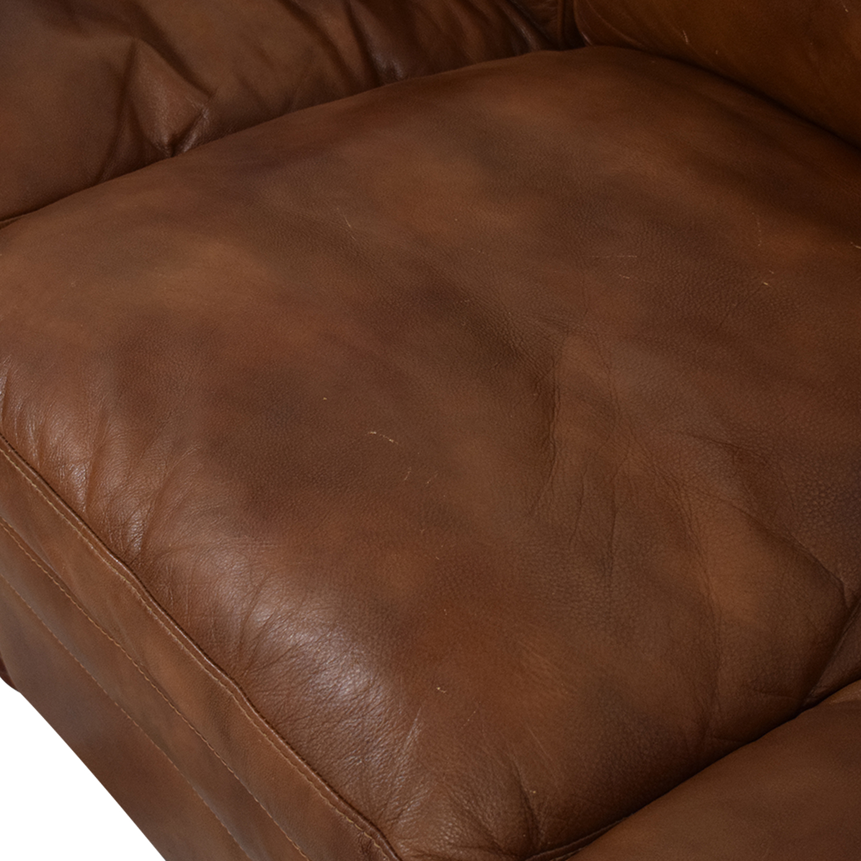 La-Z-Boy Stationary Sectional Rolled Arm Sofa sale