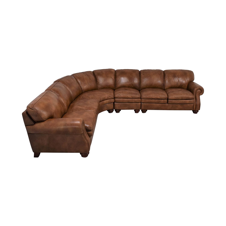 La-Z-Boy La-Z-Boy Stationary Sectional Rolled Arm Sofa Sofas