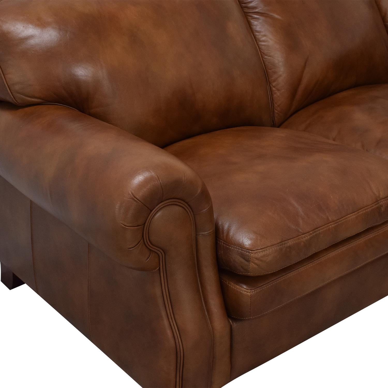 La-Z-Boy La-Z-Boy Stationary Sectional Rolled Arm Sofa used