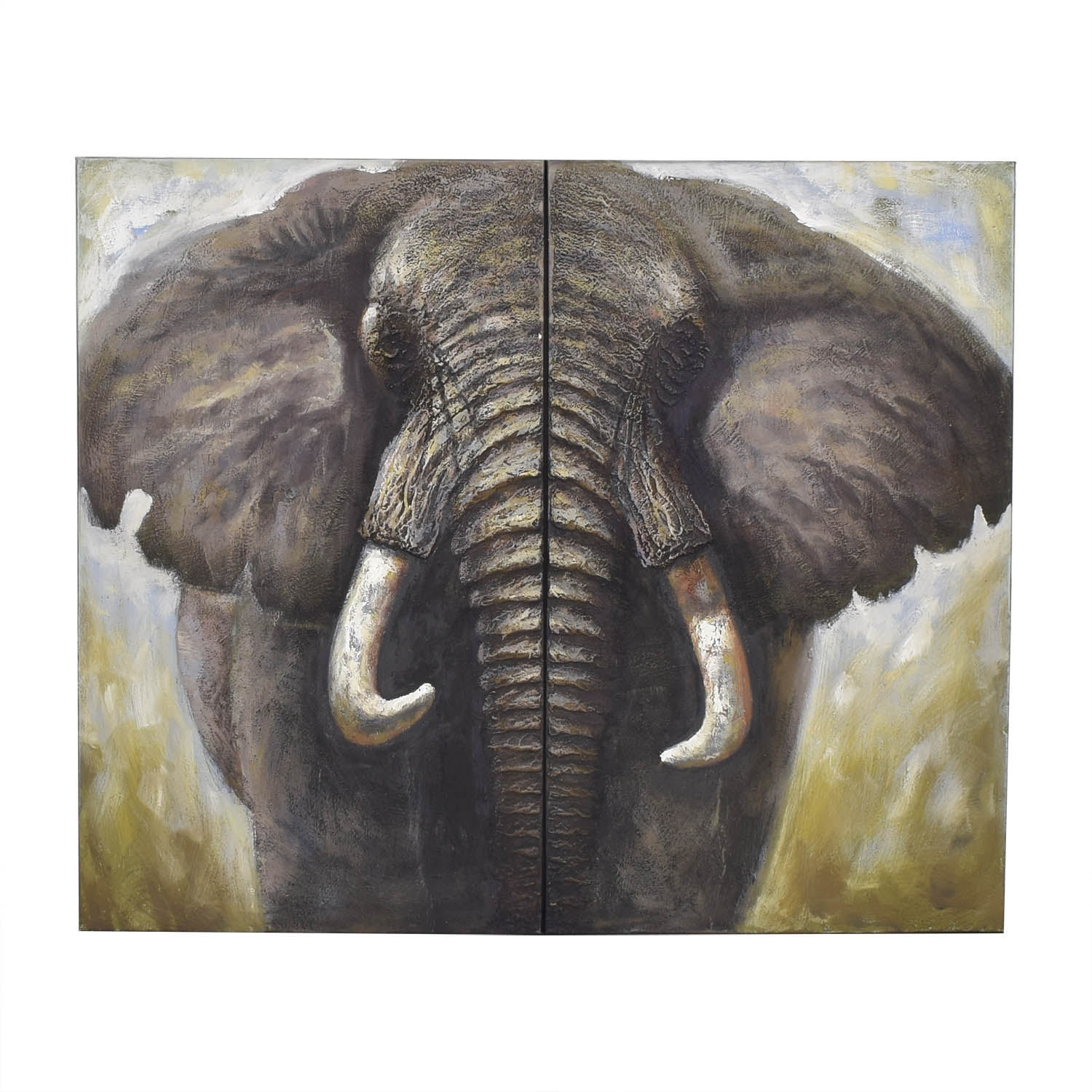 shop Two Panel Elephant Wall Art