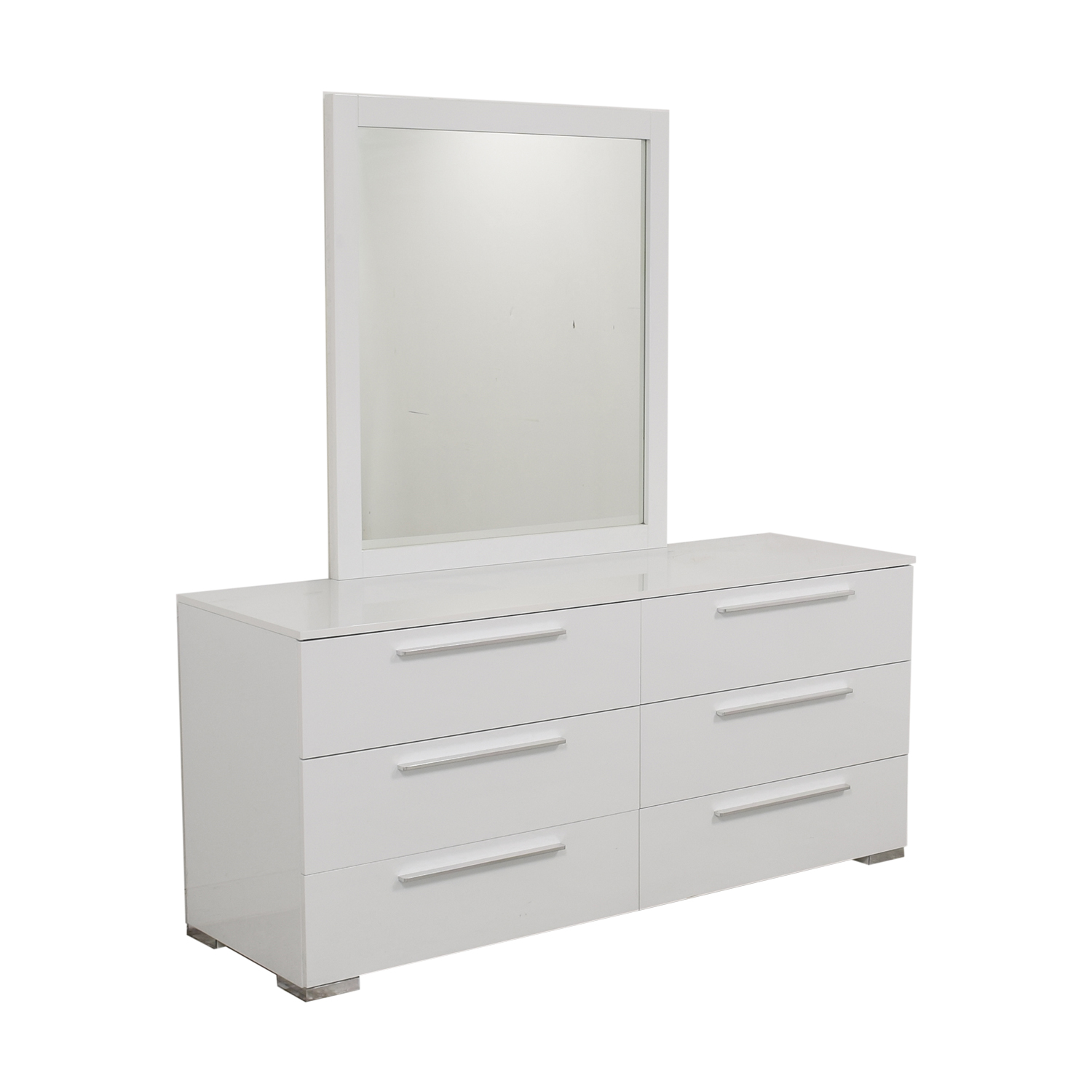 buy Modern 6-Drawer Dresser with Mirror