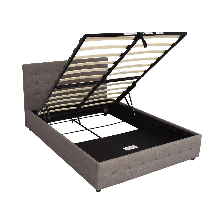 buy Brayden Studio by Dorel Home Furnishings Queen Morphis Upholstered Storage Platform Bed Brayden Studio Bed Frames