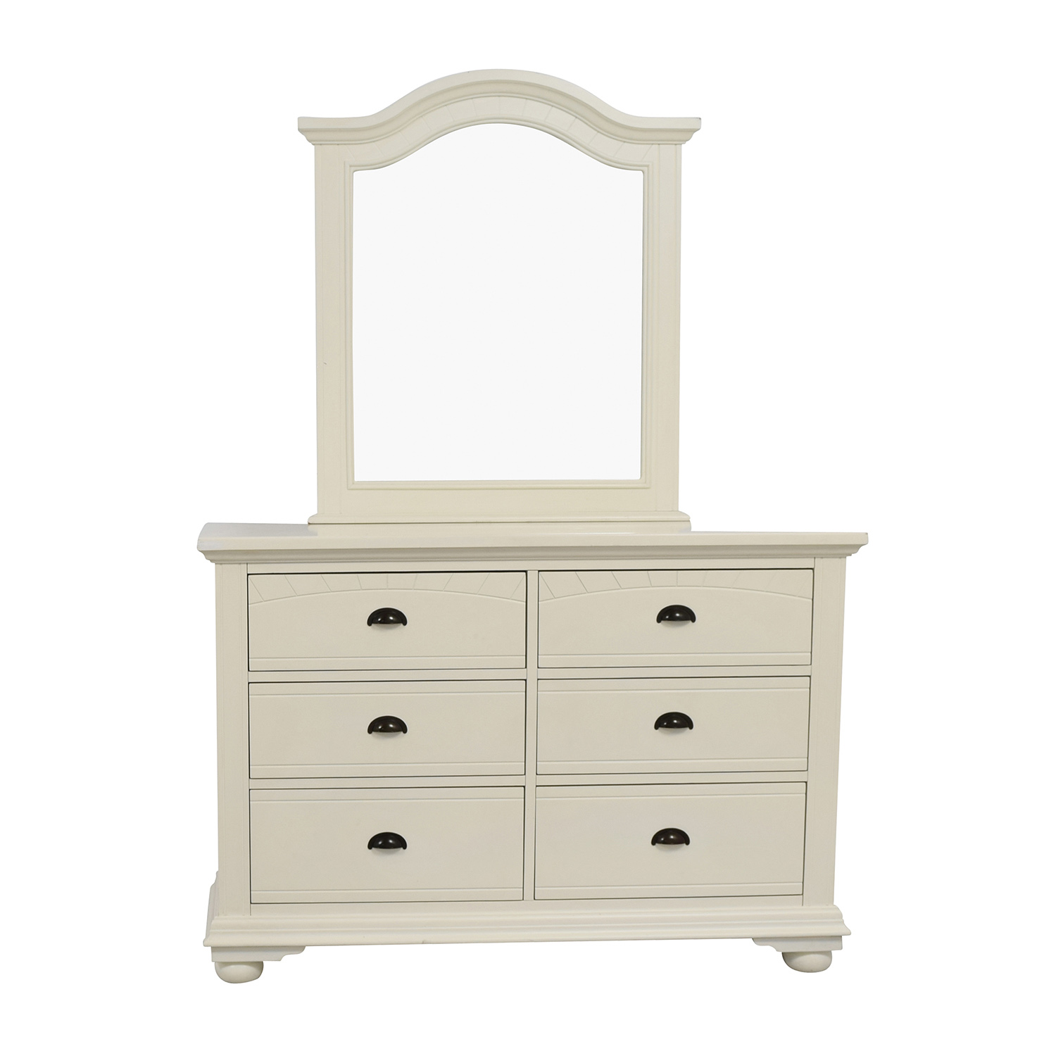 shop Bob's Furniture White Dresser with Mirror Bob's Furniture Storage