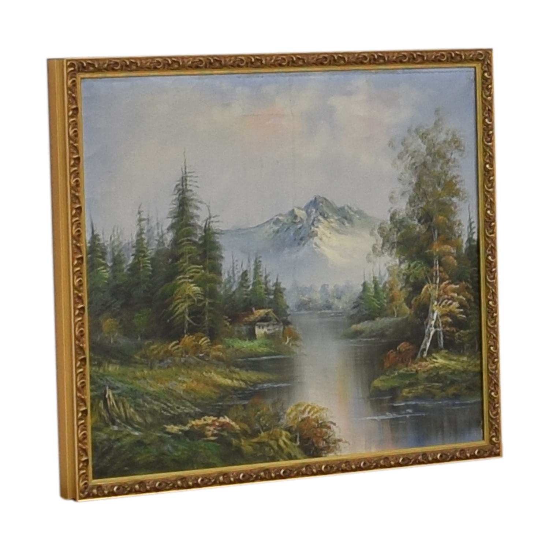 Mountain Landscape Framed Wall Art nj