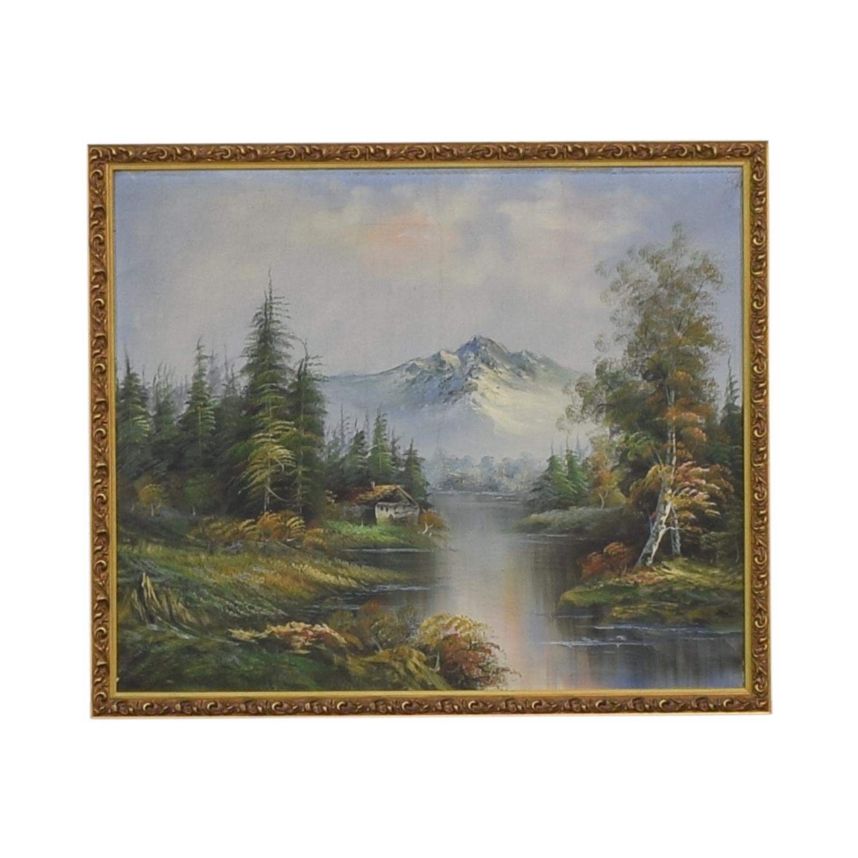 Mountain Landscape Framed Wall Art second hand