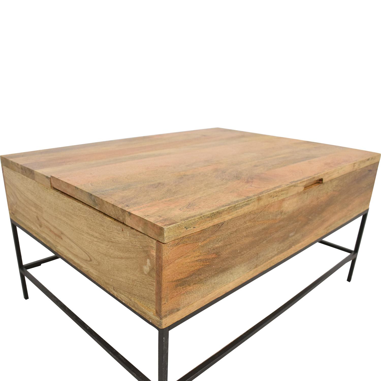 buy West Elm West Elm Industrial Storage Coffee Table Small online