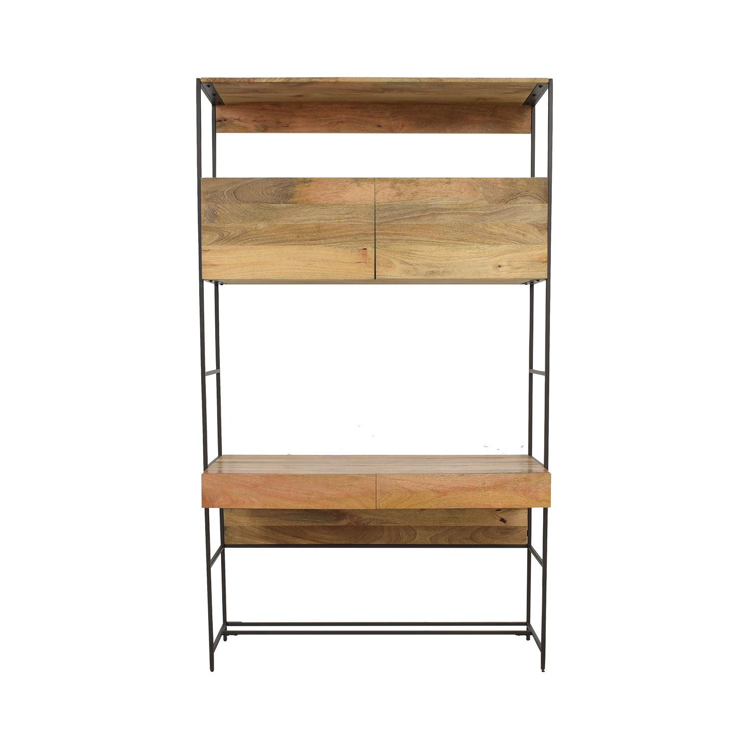 West Elm West Elm Industrial Modular Desk brown
