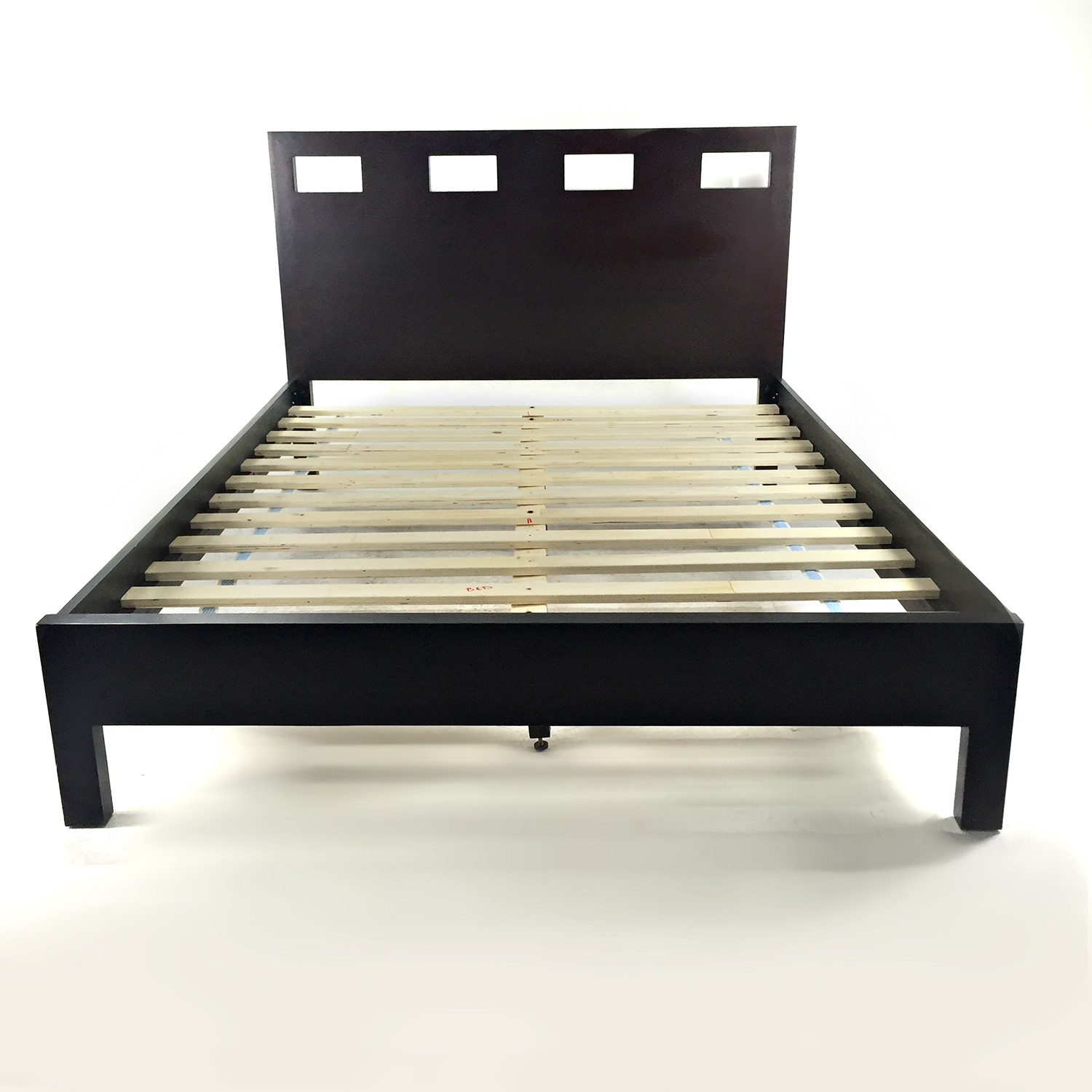 Sleepys Sleepys Brown Wool Queen Bed Frame nyc