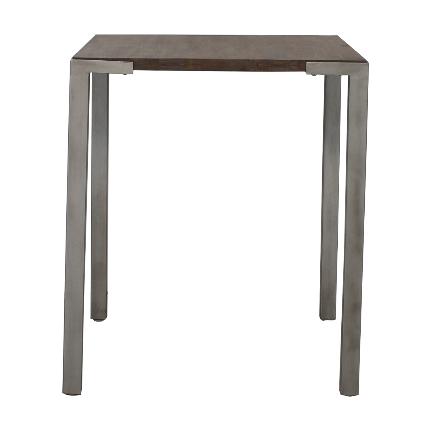 CB2 CB2 Stilt High Square Counter Table brown & grey