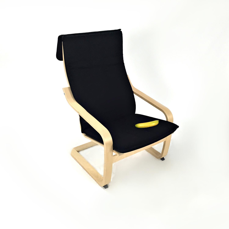 ALME Black Accent Chair / Chairs