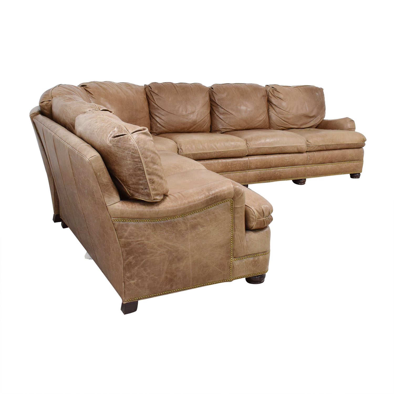 Hancock and Moore Hancock & Moore Leather Sectional Sofa dimensions