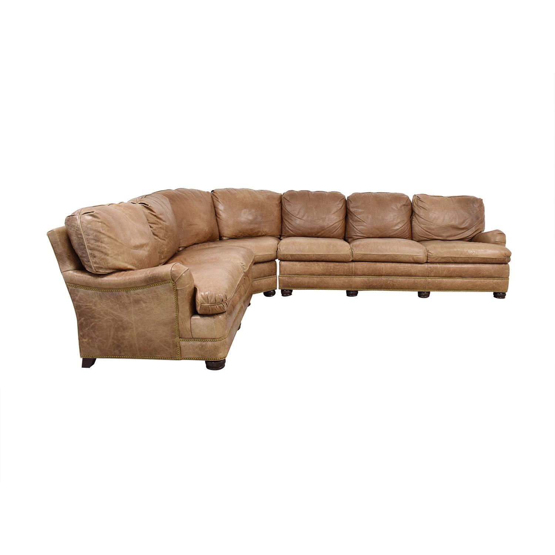 buy Hancock & Moore Leather Sectional Sofa Hancock and Moore Sofas