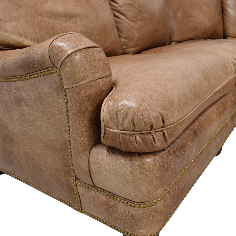 Hancock and Moore Hancock & Moore Leather Sectional Sofa brown