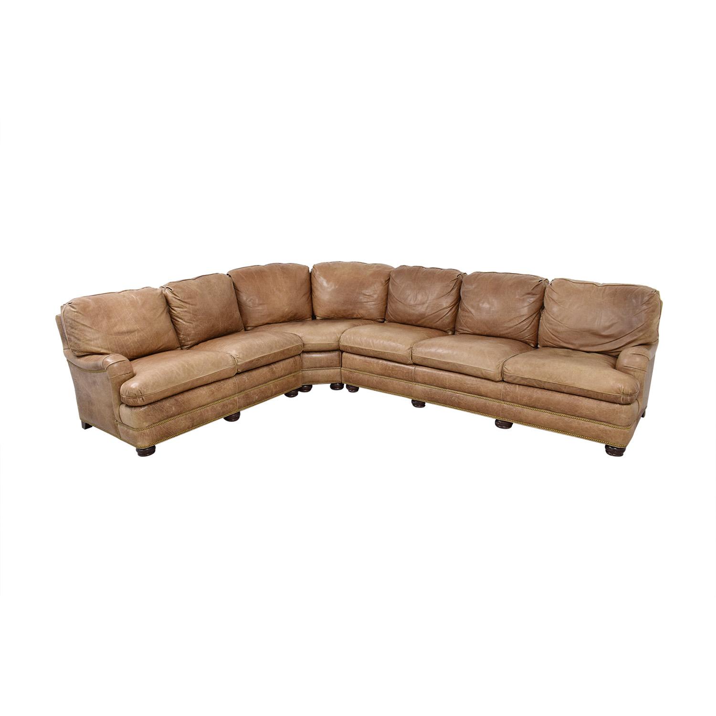 Hancock & Moore Leather Sectional Sofa sale