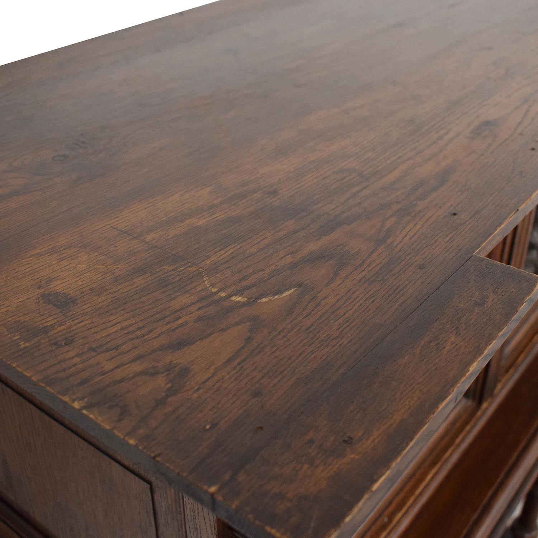 Hardwood Hand-Carved Liquor Cabinet Utility Tables