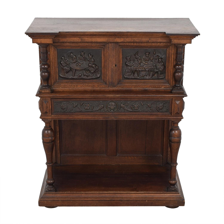 Hardwood Hand-Carved Liquor Cabinet discount