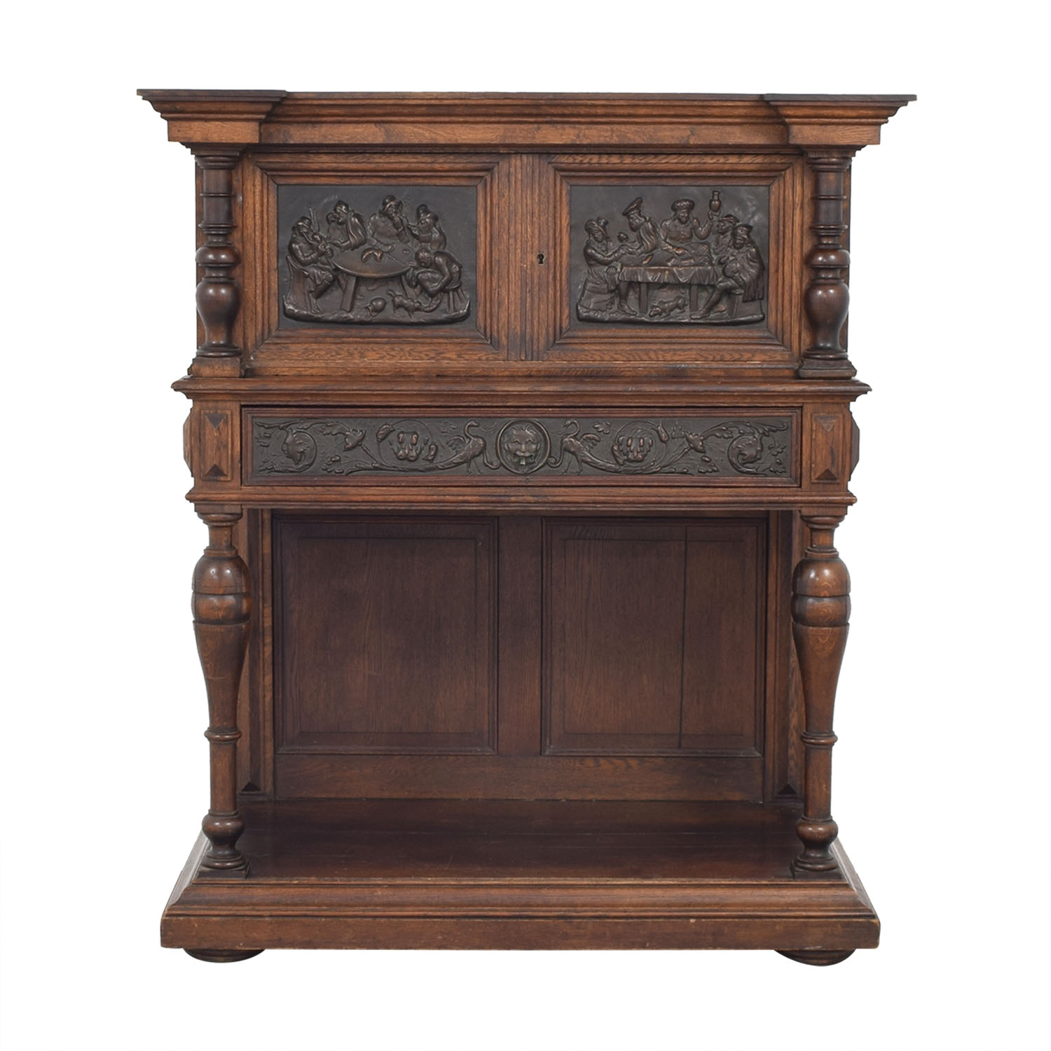 Hardwood Hand-Carved Liquor Cabinet Tables