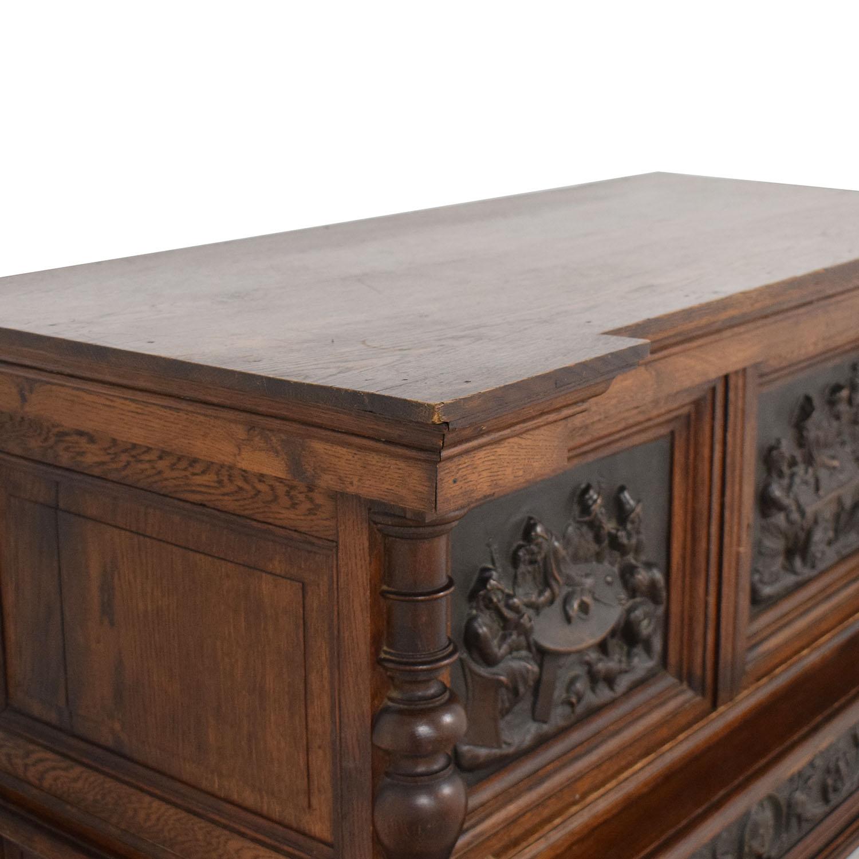 shop Hardwood Hand-Carved Liquor Cabinet  Utility Tables