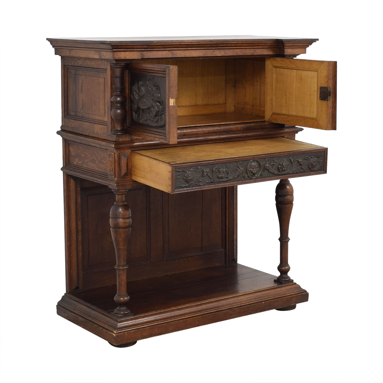 Hardwood Hand-Carved Liquor Cabinet second hand