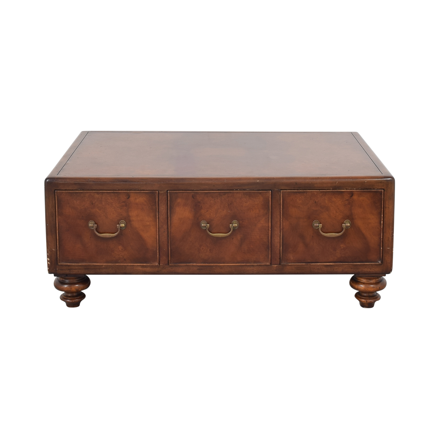 shop Thomasville Ernest Hemingway Three Drawer Coffee Table Thomasville Coffee Tables