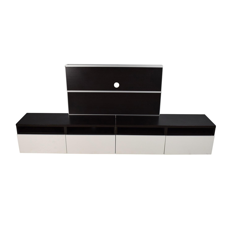 buy IKEA Black and White Media Unit IKEA Storage