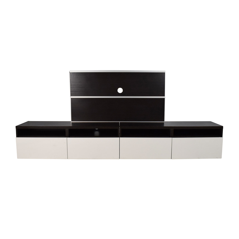 shop IKEA Black and White Media Unit IKEA Storage