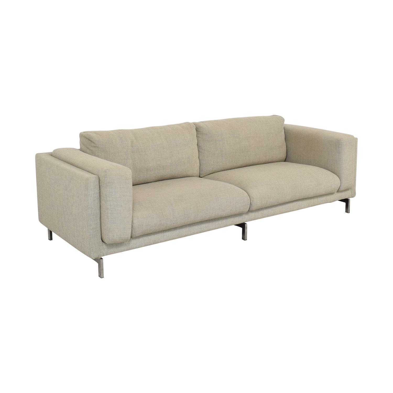 IKEA Ikea Nockeby Three-Seat Sofa light grey