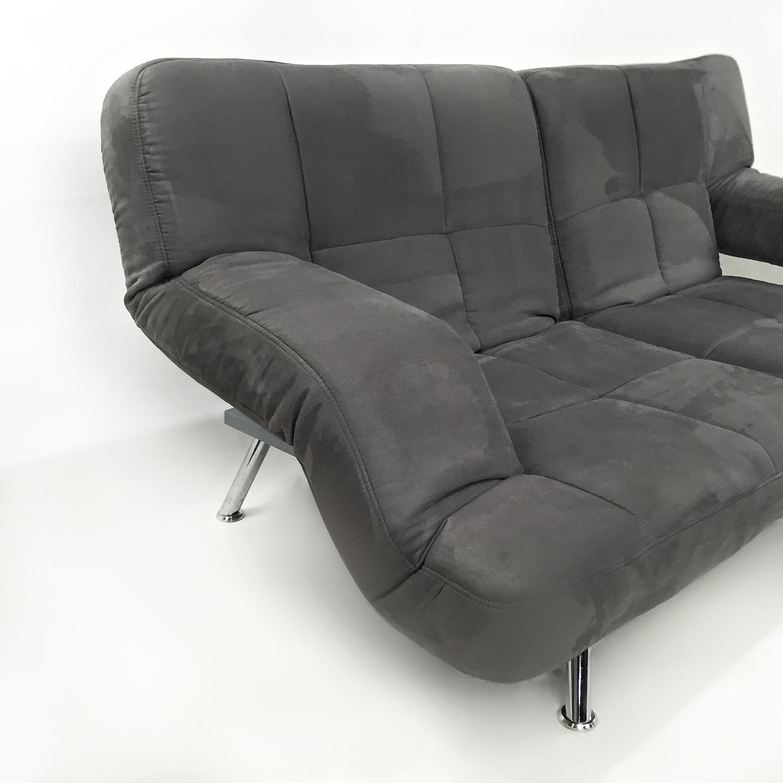 ... Overstock.com Modern Microfiber Futon Sofas ...