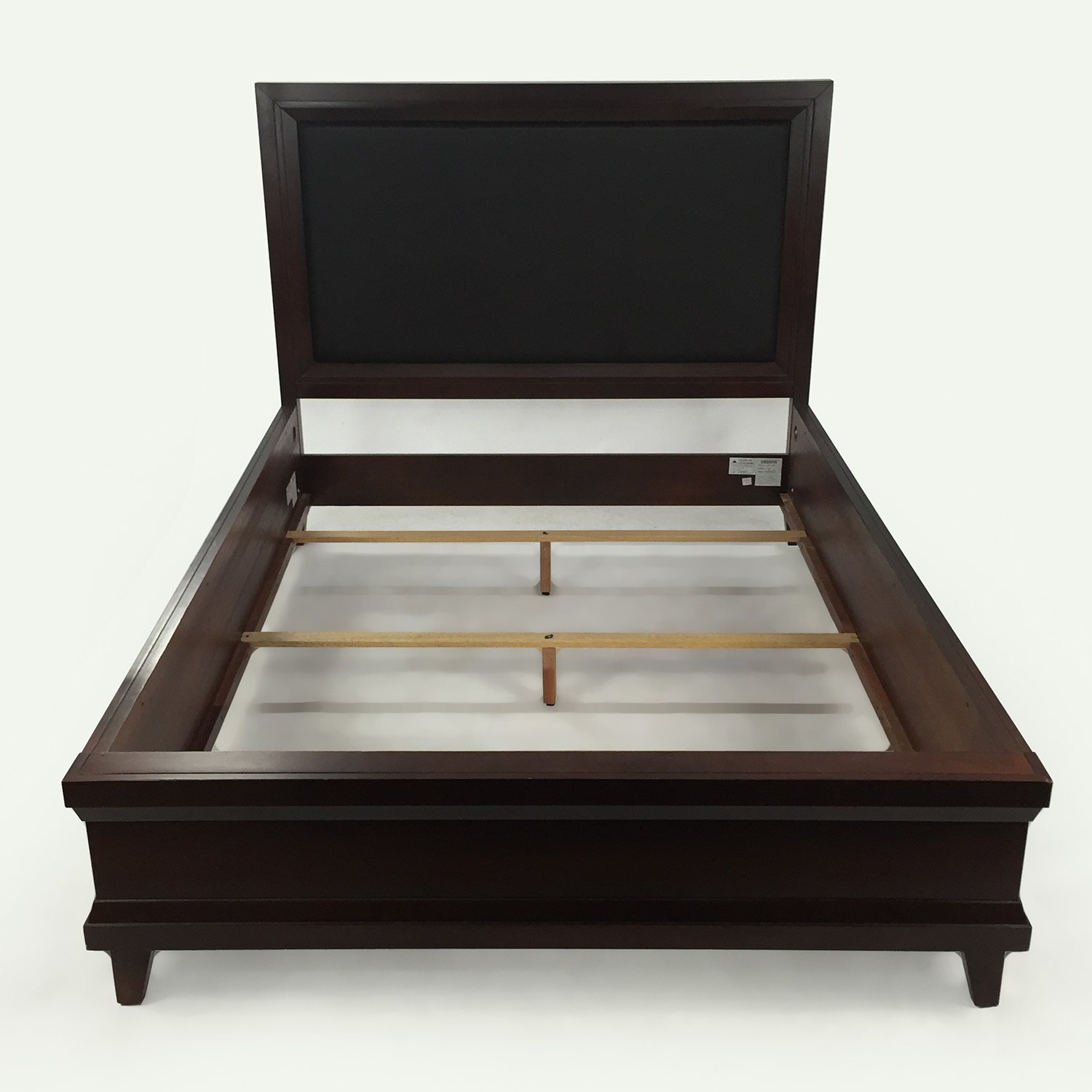 raymour and flanigan vista queen platform look bed brown