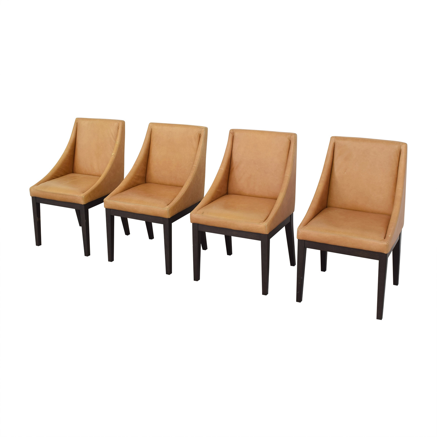 West Elm West Elm Curved Leather Chairs on sale