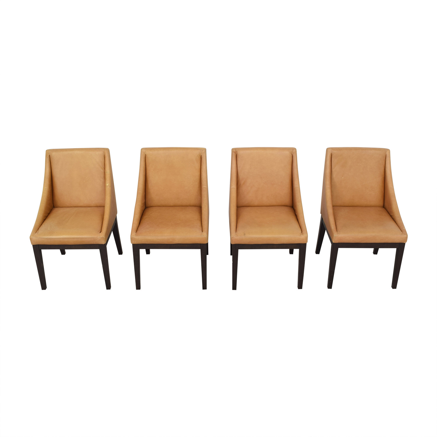 West Elm West Elm Curved Leather Chairs Chairs