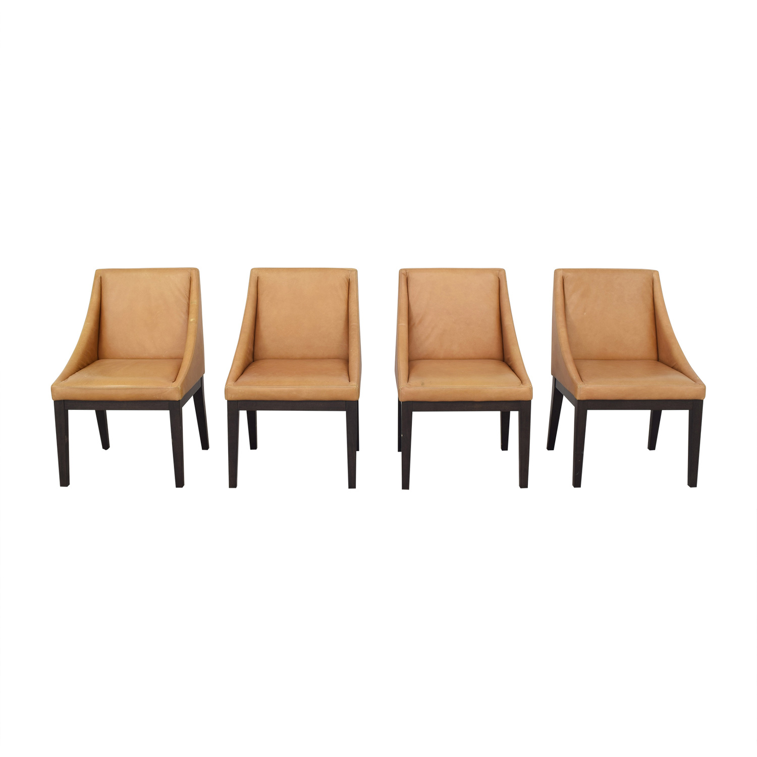 buy West Elm Curved Leather Chairs West Elm Chairs