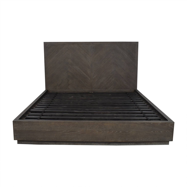 Restoration Hardware Restoration Hardware Herringbone Platform King Bed Bed Frames