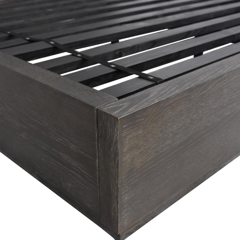 Restoration Hardware Restoration Hardware Herringbone Platform King Bed discount