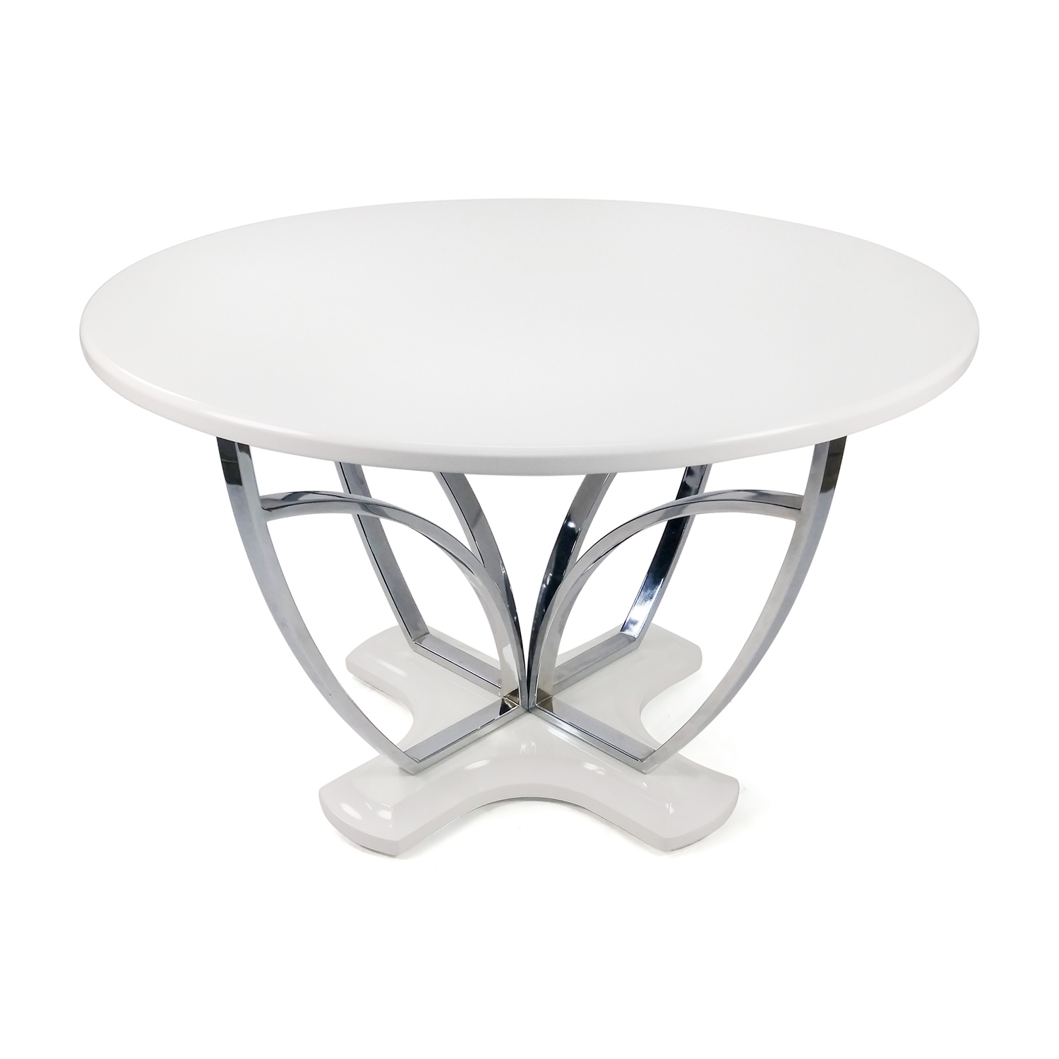 Standard Furniture Meridian White Round Table dimensions