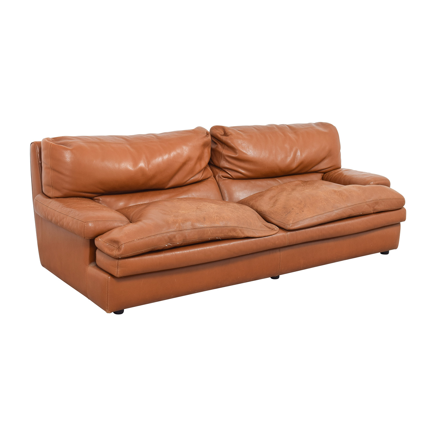 81 off roche bobois roche bobois burnt orange leather sofa sofas. Black Bedroom Furniture Sets. Home Design Ideas