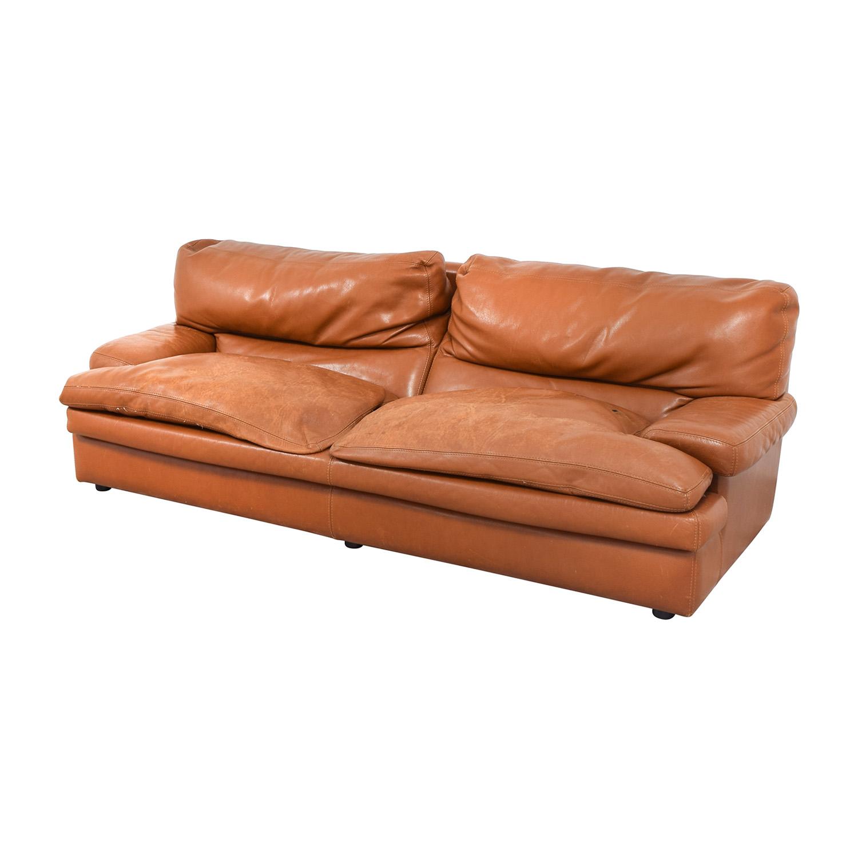 81 Off Roche Bobois Roche Bobois Burnt Orange Leather