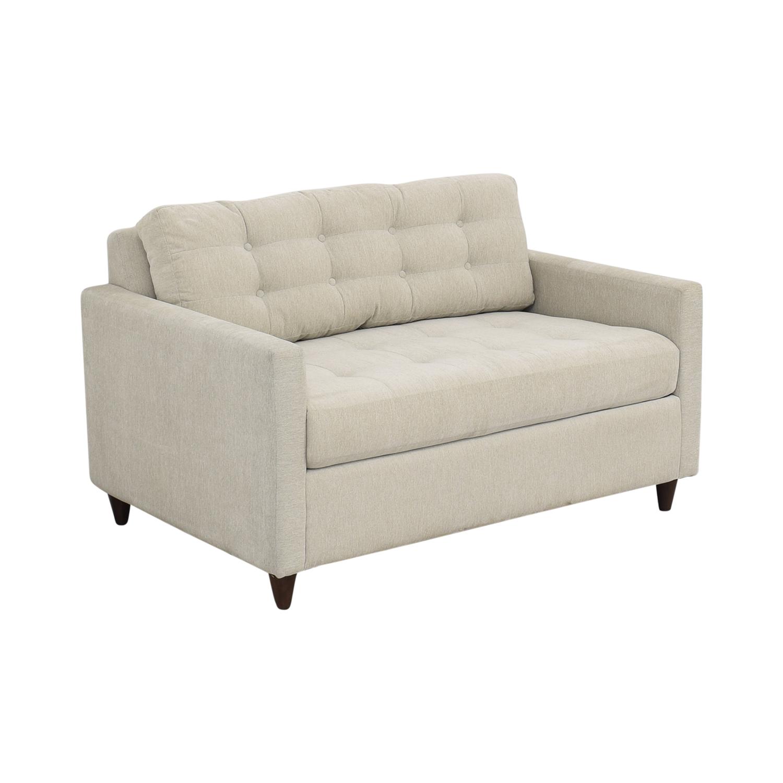 Joybird Eliot Twin Sleeper Sofa with Ottoman / Sofas