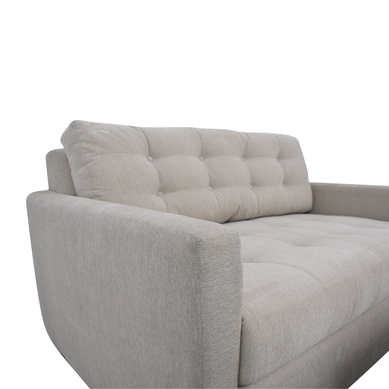 Joybird Joybird Eliot Twin Sleeper Sofa with Ottoman Sofas