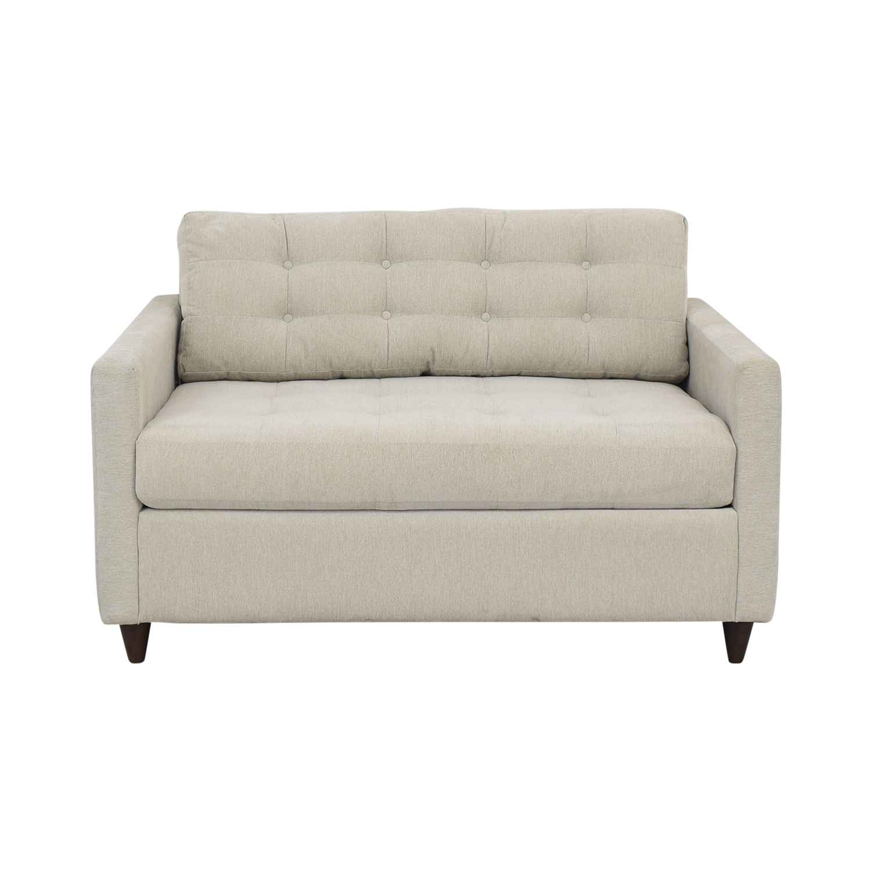 shop Joybird Eliot Twin Sleeper Sofa with Ottoman Joybird