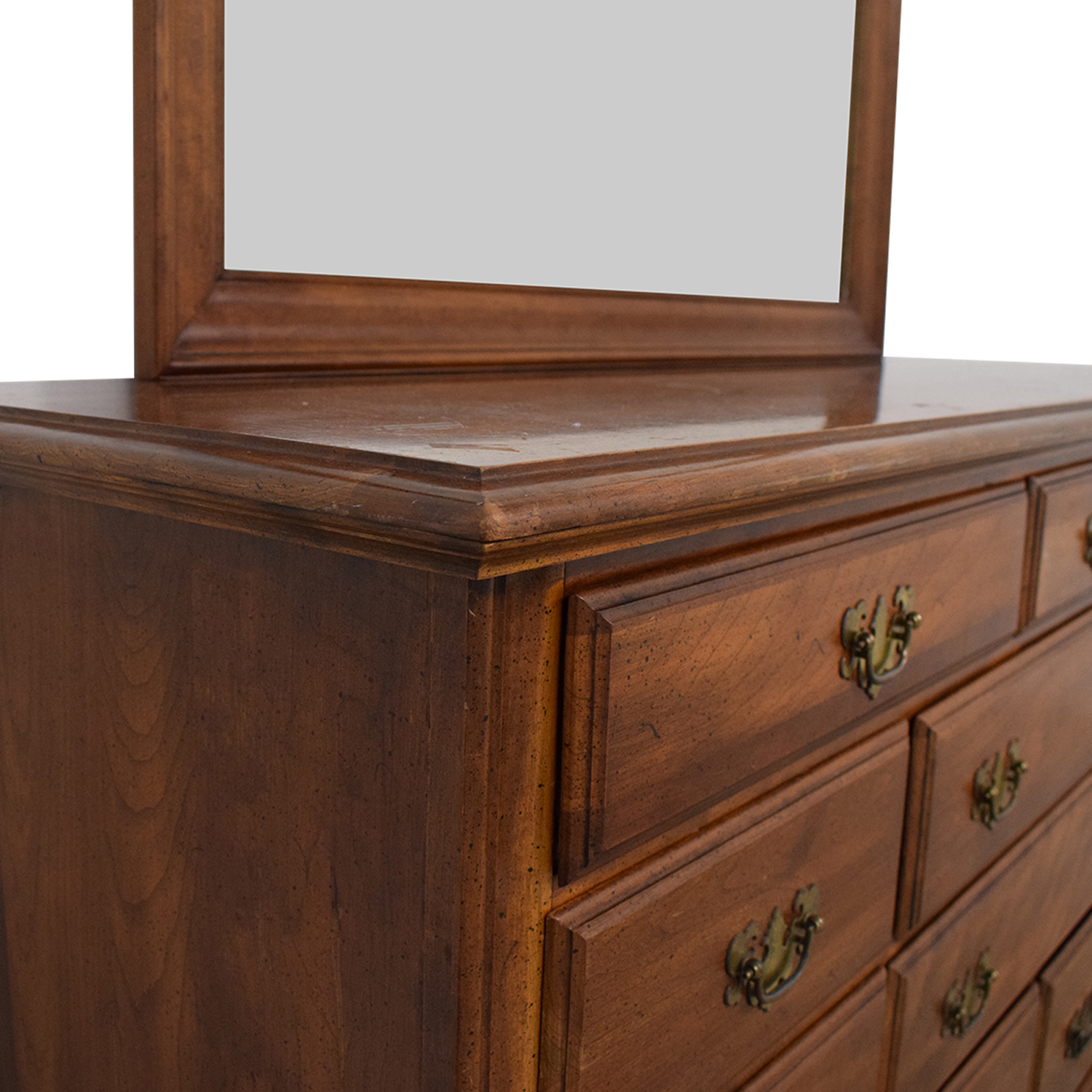 14% OFF - Pennsylvania House Pennsylvania House Dresser with Mirror /  Storage