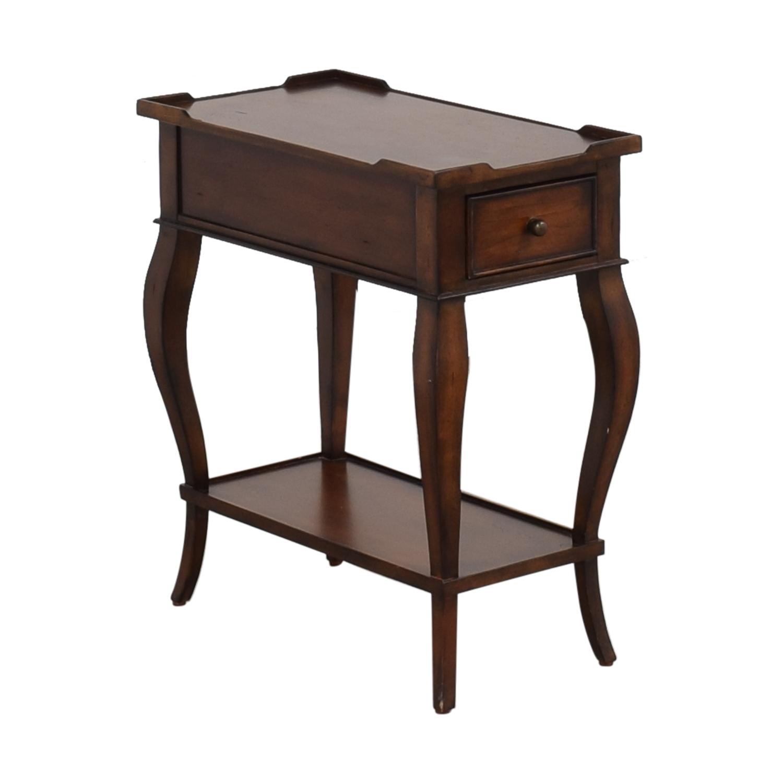 shop Ethan Allen Solid Wood Side Accent Table Ethan Allen End Tables
