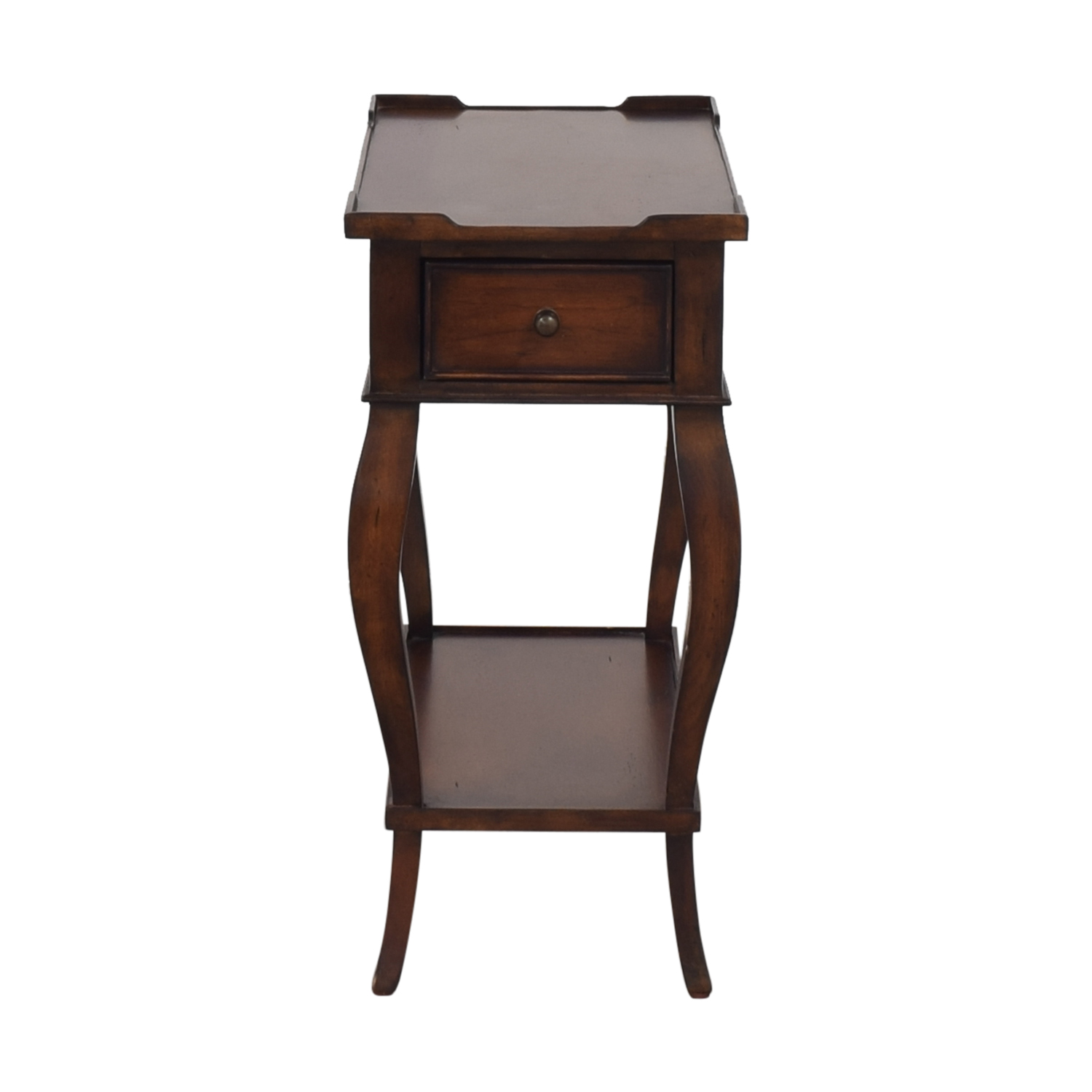 Ethan Allen Solid Wood Side Accent Table / Tables
