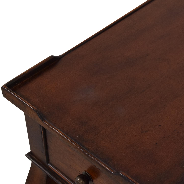 Ethan Allen Ethan Allen Solid Wood Side Accent Table dark brown