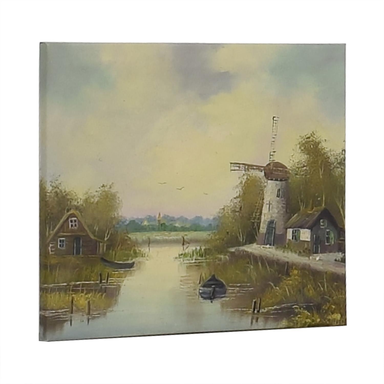 buy Windmill Landscape Wall Art  Decor