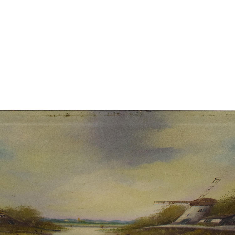 buy Windmill Landscape Wall Art  Wall Art