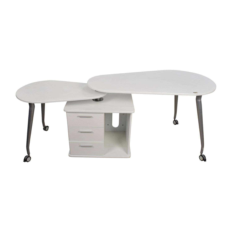 Incredible 84 Off Techni Mobili White Swivel Desk Tables Interior Design Ideas Clesiryabchikinfo