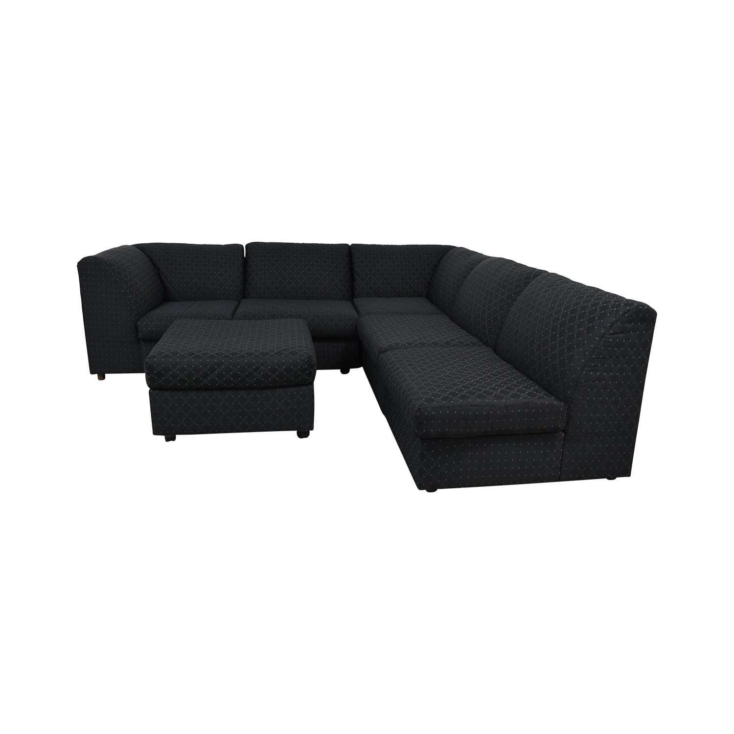 Broyhill Furniture Broyhill Furniture Corner Sectional with Ottoman black